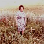 Martha Salway at Karl Helms gravesite